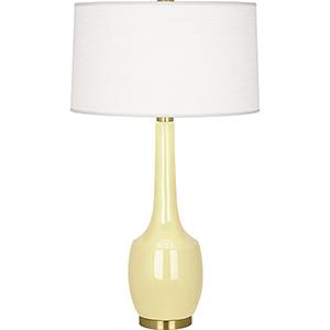 Delilah Butter Glazed Ceramic 34-Inch One-Light Table Lamp