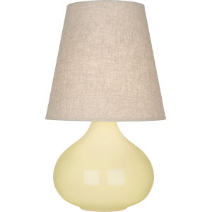 June Butter Glazed Ceramic One-Light Accent Lamp