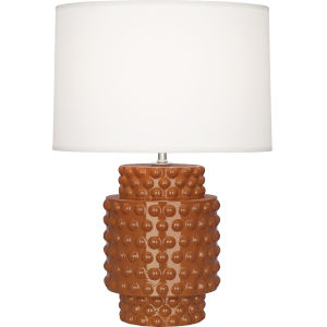 Dolly Cinnamon Glazed Textured One-Light Accent Lamp