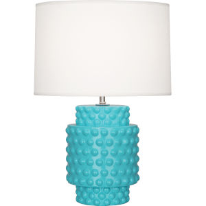 Dolly Egg Blue Glazed One-Light Accent Lamp