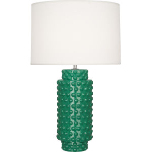 Dolly Emerald Glazed One-Light Table Lamp