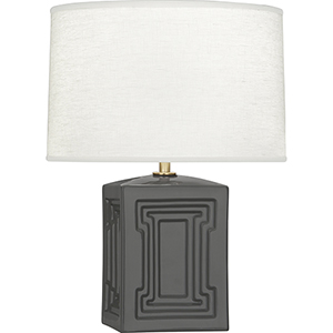 Williamsburg Nottingham Lamp Black Glazed Ceramic with Modern Brass Accents 18-Inch One-Light Table Lamp