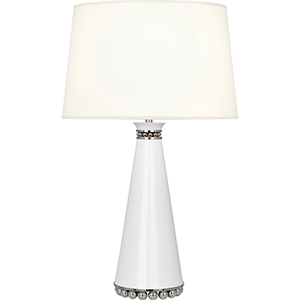 Pearl Lily Lacquered Paint and Polished Nickel Accents 29-Inch One-Light Table Lamp