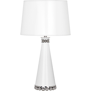Pearl Lily Lacquered Paint and Polished Nickel Accents 20-Inch One-Light Table Lamp