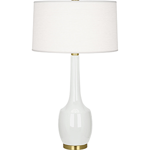 Delilah Lily Glazed Ceramic 34-Inch One-Light Table Lamp