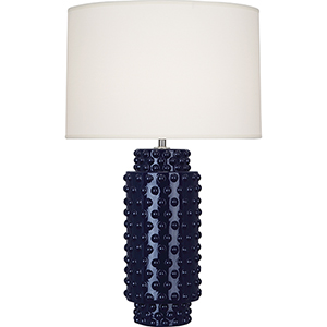 Dolly Midnight Blue Glazed Textured Ceramic 28-Inch One-Light Table Lamp
