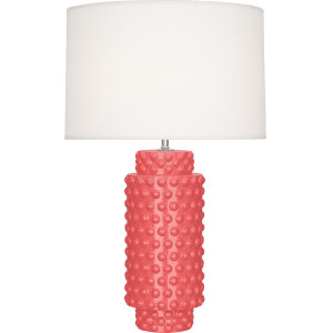 Dolly Melon Glazed Textured Ceramic One-Light Table Lamp