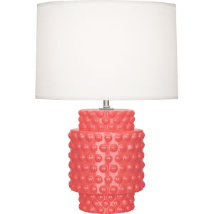 Dolly Melon Glazed Textured Ceramic One-Light Accent Lamp
