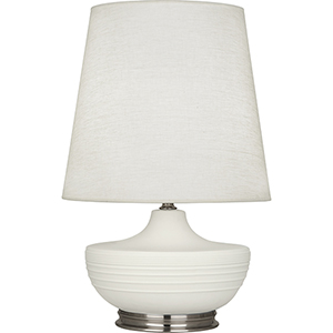 Michael Berman Nolan Matte Lily Glazed Ceramic with Dark Antique Nickel Accents 28-Inch One-Light Table Lamp