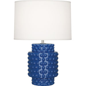 Dolly Marine Blue Glazed Textured Ceramic One-Light Accent Lamp