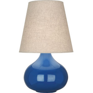 June Marine Blue Glazed Ceramic One-Light Accent Lamp