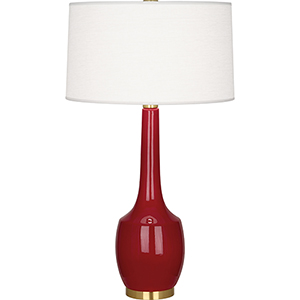 Delilah Oxblood Glazed Ceramic 34-Inch One-Light Table Lamp