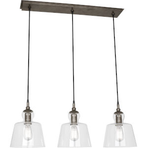 Albert Patina Nickel Three-Light Pendant