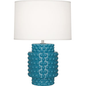 Dolly Peacock Glazed Textured Ceramic One-Light Accent Lamp