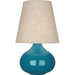 June Peacock Glazed Ceramic One-Light Accent Lamp