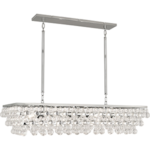 Bling Polished Nickel 42-Inch Eight-Light Chandelier