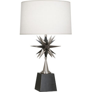 Cosmos Bronze One-Light Table Lamp With Oyster Linen Fabric Shade