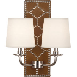 Williamsburg Lightfoot Polished Nickel Two-Light Wall Sconce