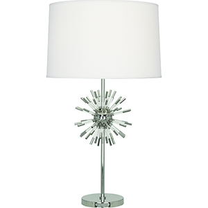 Andromeda Polished Nickel with Clear Acrylic Acecnts 28-Inch One-Light Table Lamp