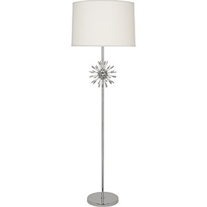 Andromeda Polished Nickel with Clear Acrylic Acecnts 62-Inch One-Light Floor Lamp
