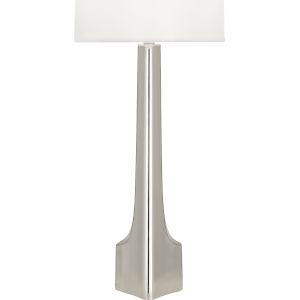 Margeaux Polished Nickel One-Light Table Lamp With White Oval Organza Shade