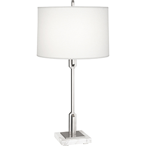 Empire Antique Silver with White Marble Base 29-Inch One-Light Table Lamp