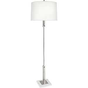 Empire Antique Silver with White Marble Base 66-Inch One-Light Floor Lamp