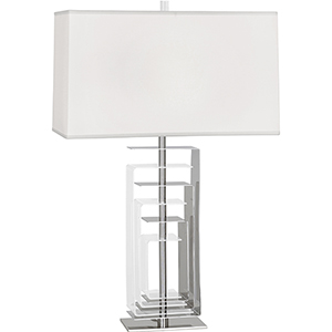 Braxton Polished Nickel with Clear Acrylic Accents 29-Inch One-Light Table Lamp
