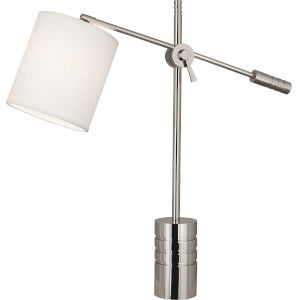 Campbell white, silver One-Light Table Lamp