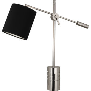 Campbell Black, Silver One-Light Table Lamp
