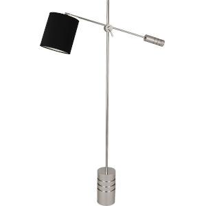 Campbell Black, Silver One-Light Floor Lamp