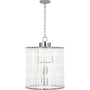 Cole Polished Nickel  18-Inch Six-Light Chandelier
