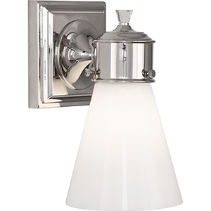 Williamsburg Blaikley Polished Nickel  Five-Inch One-Light Wall Sconce