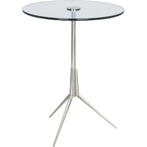 Martin Polished Nickel Side Table