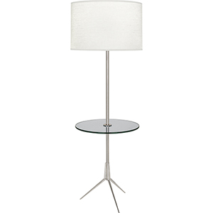 Martin Polished Nickel 60-Inch One-Light Floor Lamp