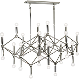 Jonathan Adler Milano Polished Nickel  44-Inch 30-Light Chandelier