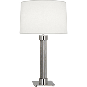 Todd Polished Nickel with Stainless Steel Mesh Accents 30-Inch One-Light Table Lamp