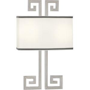 Jonathan Adler Mykonos Polished Nickel Two-Light Wall Sconce