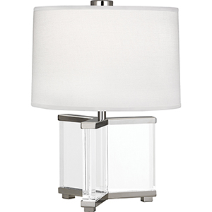 Fineas Clear Crystal and Polished Nickel 16-Inch One-Light Table Lamp