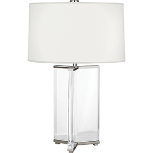 Fineas Clear Crystal and Polished Nickel 28-Inch One-Light Table Lamp
