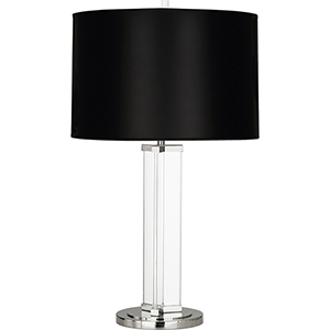 Fineas Clear Glass and Polished Nickel 29-Inch One-Light Table Lamp