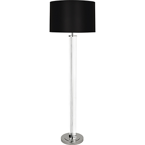 Fineas Clear Glass and Polished Nickel 65-Inch One-Light Floor Lamp