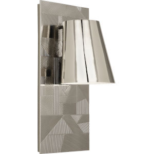 Michael Berman Brut Polished Nickel One-Light Wall Sconce With Metal Shade