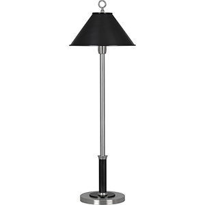 Aaron Dark Antique Nickel with Deep Patina Bronze Accents 31-Inch One-Light Table Lamp