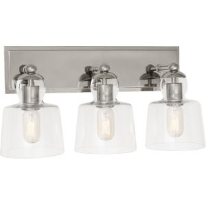 Albert Polished Nickel Three-Light Wall Sconce