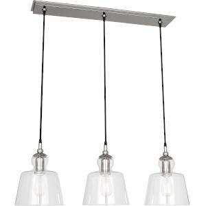 Albert Polished Nickel Three-Light Pendant