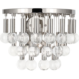 Jonathan Adler Milano Polished Nickel One-Light Wall Sconce