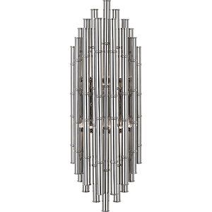 Jonathan Adler Meurice Polished Nickel  Seven-Inch Two-Light Wall Sconce