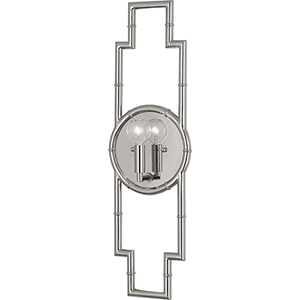 Jonathan Adler Meurice Polished Nickel  Seven-Inch One-Light Wall Sconce