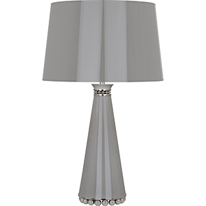 Pearl Smoky Taupe Lacquered Paint and Polished Nickel Accents 29-Inch One-Light Table Lamp